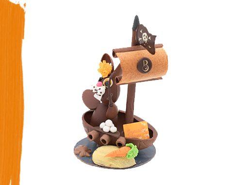 Lapin pirate en chocolat