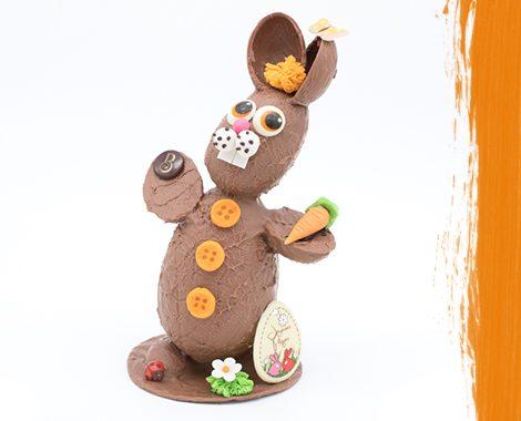 Lapin en chocolat géant