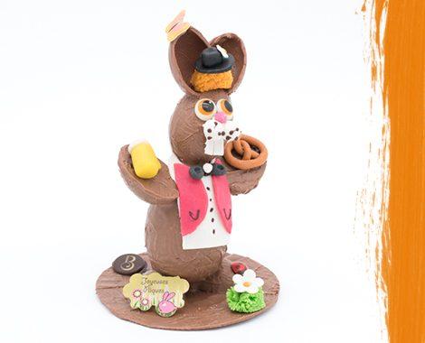 Patit lapin de Pâques en chocolat
