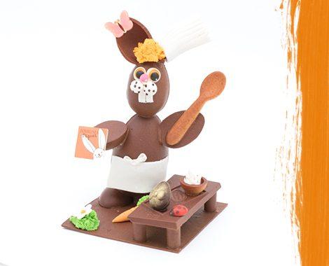 Lapin de Pâque en chocolat pâtissier